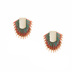 Earrings of recycled leather - Paca Peca
