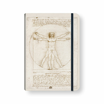 Notebook with elastic Leonardo da Vinci Vitruvian Man