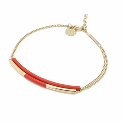 Sir double bracelet - Red
