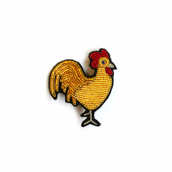 Golden Rooster Brooch -Macon & Lesquoy
