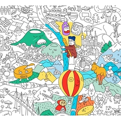 Coloring poster France