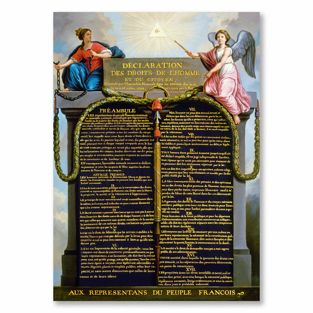 Declaration of the Rights of Man and of the Citizen Poster