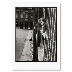Pierre Jahan - Colette at the window of her appartment at the Palais Royal Poster