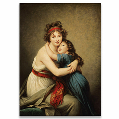Elisabeth-Louise Vigée-Le Brun - Madame Vigée-Le Brun and his daughter Poster