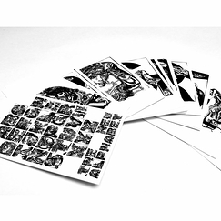 Set de 27 cartes postales M/M Paris The new Alphabet