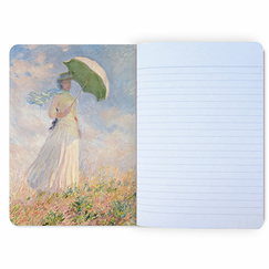 Claude Monet - Woman with an umbrella Notebook