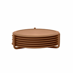 Set of 6 Coasters - Cinnamon