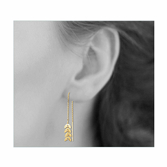 Laurel leaves Pendant Earrings