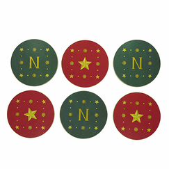 Set of 6 Coasters Emblems Napoleon