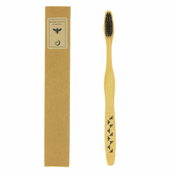 Bamboo toothbrush with emblems of Napoleon, with its case