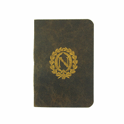 Soft leather Small notebook Napoleon - 36 pages