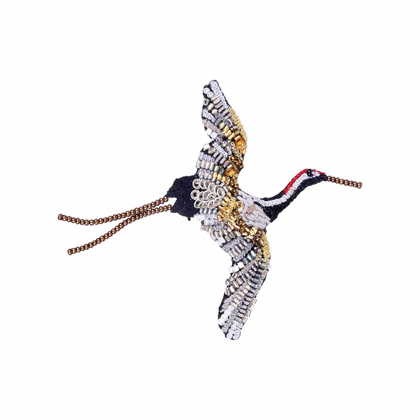 Crane Brooch - Trovelore