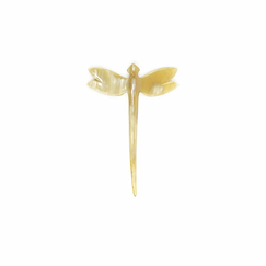 Dragonfly Hairpick - Blond horn