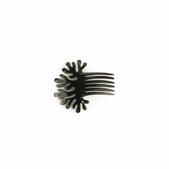 Coral-shaped comb Hairpick - Black horn