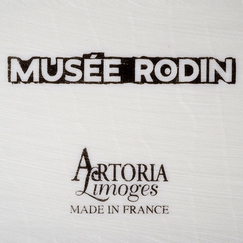Plate with Rodin's drawing
