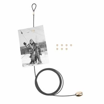 Porte-photos avec câble aimanté