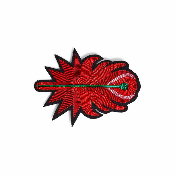 Large Phoenix Feather Brooch - Macon & Lesquoy