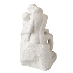 The Kiss - Auguste Rodin - Resin with marble patina