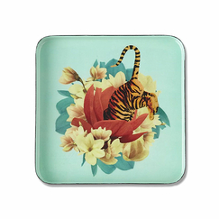 Square Trinket Tray Tiger Flower - Gangzaï