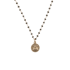 Bee Necklace - Brown