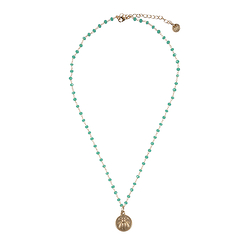 Bee Necklace - Water green