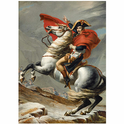 Affiche Jacques-Louis David - Bonaparte, Premier Consul franchissant le Grand-Saint-Bernard