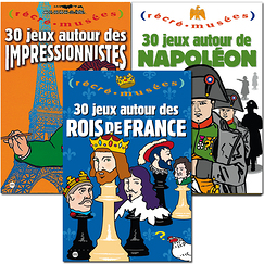 3 Activity books Kings of France, Napoleon and Impressionnism