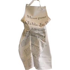 """Menu pour la table du Roy"" Apron"