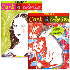 "L'art à colorier ""Animaux"" et ""Portraits"""