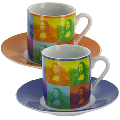 Set of 2 cups expresso Mona Pop