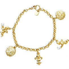 Charm bracelet with pendants Versailles