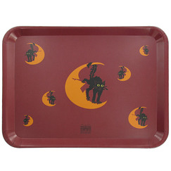 "Serving tray ""Chat Noir"" (Black cat)"