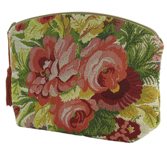 "Trousse tapisserie ""Bouquet"""