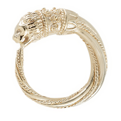 """Lion's head"" ring"
