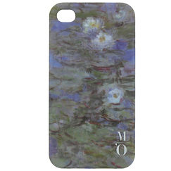IPhone 4 case - Blue Waterlilies