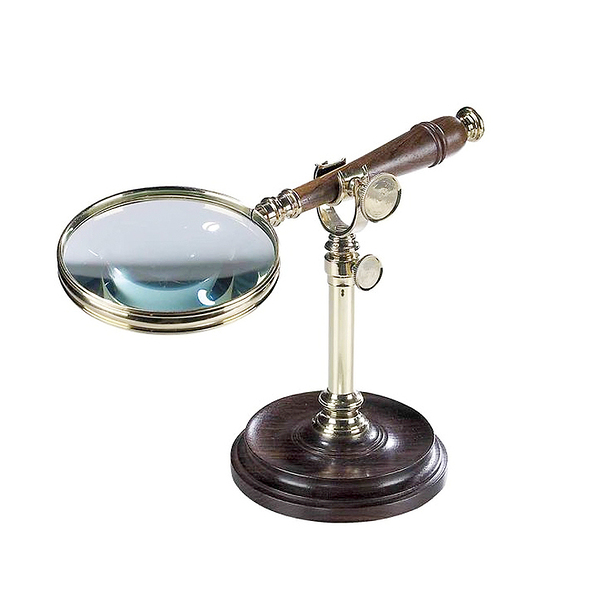 Magnifying Glass w/Bronzed Stand