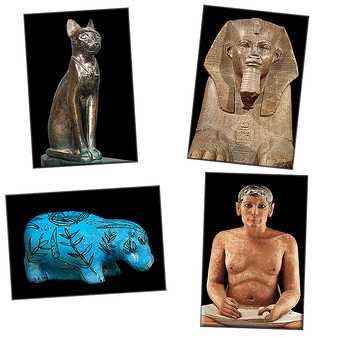Lot de 4 magnets Egypte