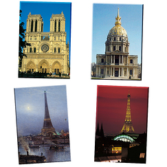 Paris 4 Magnets Set