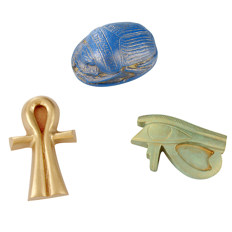 Lot de 3 magnets Amulettes Egyptiennes