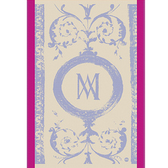 Tea cloth with a monogram motif