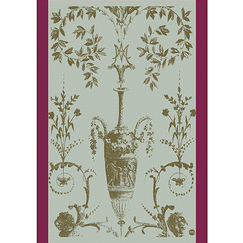 Tea cloth with a vase motif