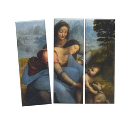 "Set of 3 magnets Leonardo Da Vinci ""Saint Anne"""