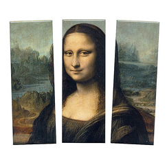 "Set of 3 magnets Leonardo Da Vinci ""La Gioconda"""