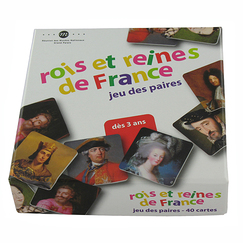 Memory game - Rois et reines de France (Kings and Queens of France)