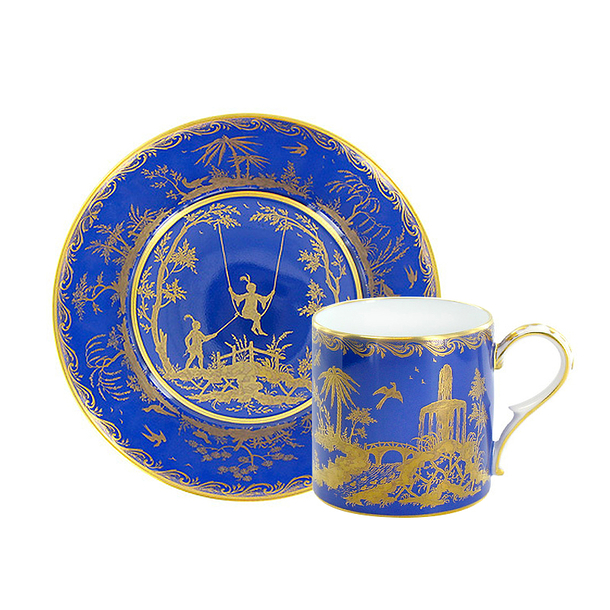 Chinoiserie bleue Tea cup and saucer