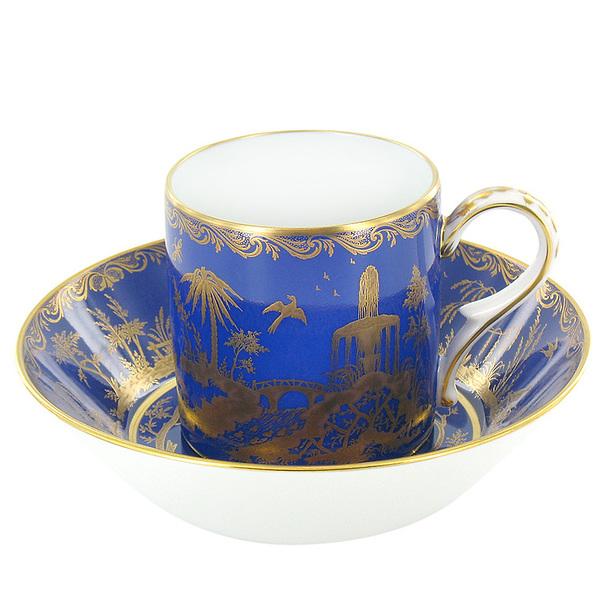 tasse et soucoupe chinoiserie bleue boutiques de mus es. Black Bedroom Furniture Sets. Home Design Ideas