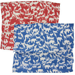 "Set of 2 ""Animal Beauty"" square scarf"
