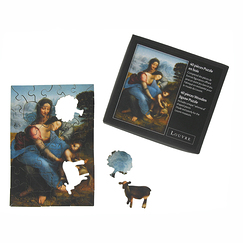 Wooden Jigsaw Puzzle (40 pieces): The Virgin and Child with Saint Anne