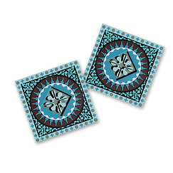Set of 2 Coasters Moucharabieh