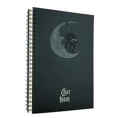Spiral notebook Le Chat noir